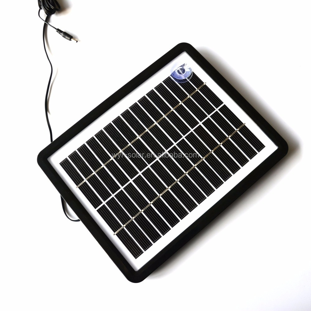 6w solar panel car battery charger with holder