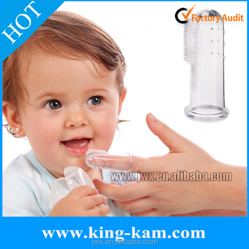 wholesale Soft Silicone Baby Toothbrush Baby Finger Toothbrush with case set