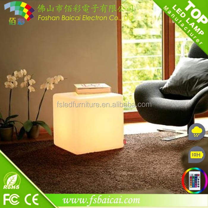Domestic cube led furniture for living room