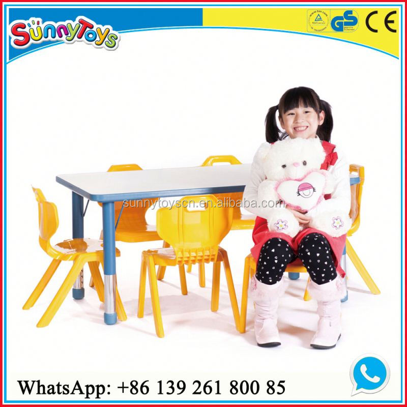 Kid's bedroom furniture baby furniture modern nursery school table and chairs