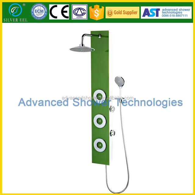 china manufacturer green hydro bath shower rain /shower column