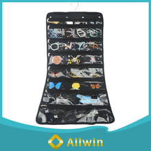 Wholesale custom clear pvc foldable hanging jewelry organizer