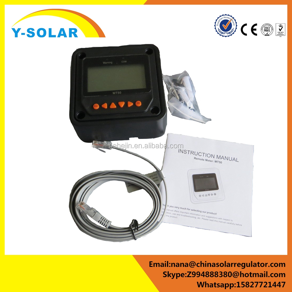 Y-SOLAR real mppt solar charge controller BN Series remote control electric energy meter MT50