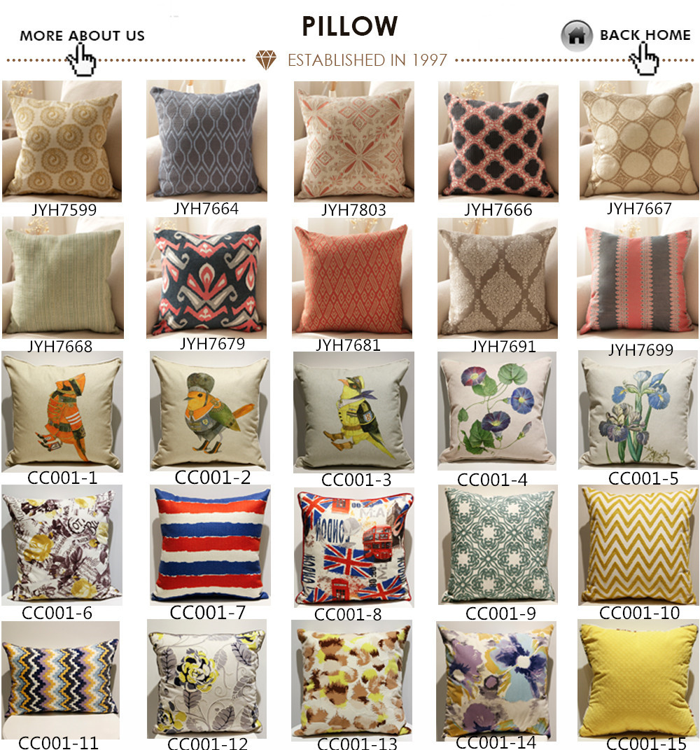 American colorful popular decorative sofa embroidery pillow
