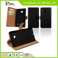 China Manufacturer Wholesale book style genuine leather cell mobile phone case for NOKIA Lumia930