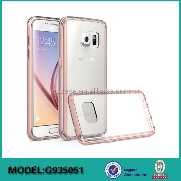 TPU bumper with PC back cover phone case for Samsung galaxy S8 mobile phone accessories
