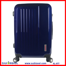 China Factory Classic abs pc hard shell luggage trolley 3pcs in one set