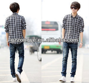 Men's long sleeve shirt,plaid shirt
