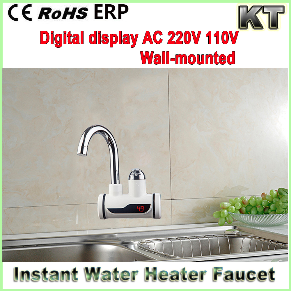 220V 3000w 110V 2000w temperature display instant electric faucet tankless water heater geyser