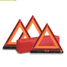 Buy From China Wholesale Road Hazard Warning Triangle Red Plastic Traffic Warning Triangle