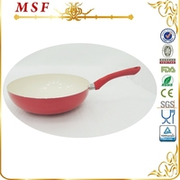 28cm ceramic coating wok press aluminum wok pan