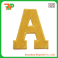 Custom Iron on embroidery letter A patches for hat