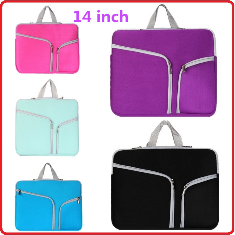 Custom 14 Inch Ultra-Portable Fashion Neoprene Material Laptop Bag