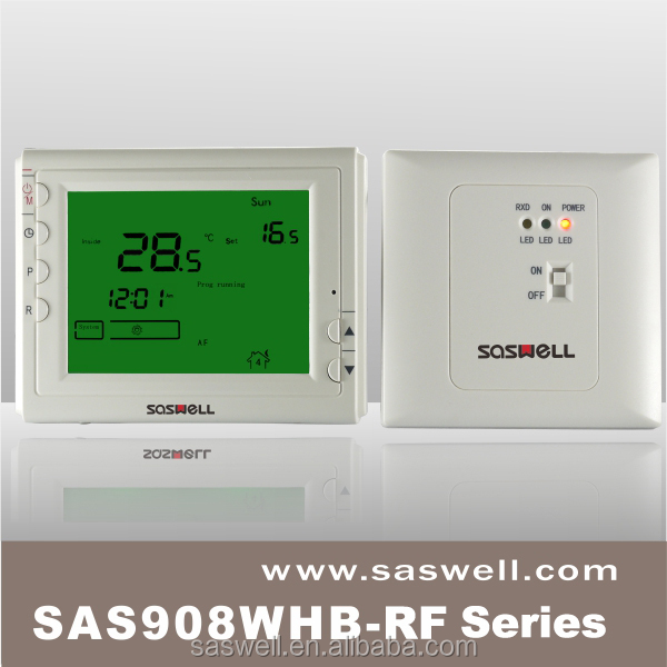 Large LCD wireless thermostat for home <strong>heating</strong>