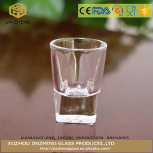 Lead Free Promotional 20ml Cocktail Shot Glass Cup with flower embossed bottom