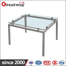 decorative square metal coffee table legs
