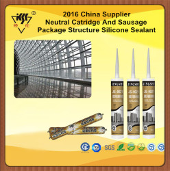 2016 China Supplier Neutral Catridge And Sausage Package Structure Silicone Sealant