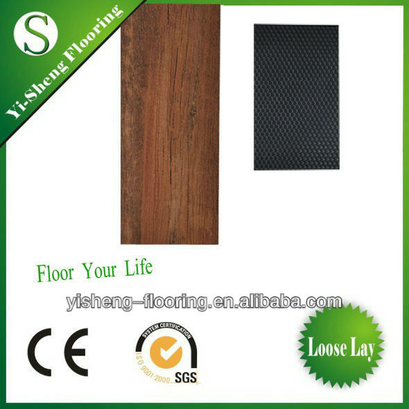 PVC wood flooring/pvc floor tile like wood