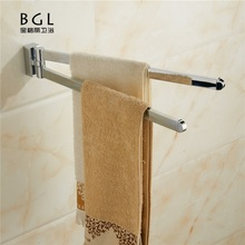 New bathroom towel bar zinc alloy folding double towel bar