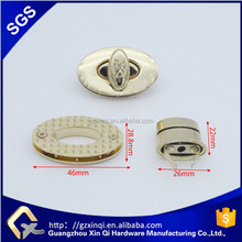 Custom design handbag hardware twist lock metal locker for bag