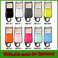 Hot selling pothook slim armor heavy duty case cover for iphone 6