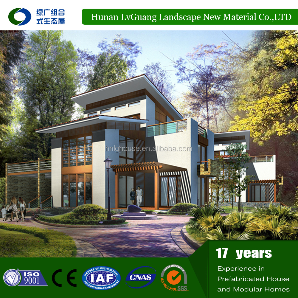 prefabricated concrete small prefab concrete steel structure modular house for living