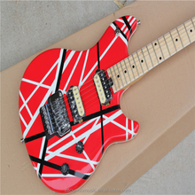 free shipping Newest Arrival Edward Van Halen EVH Wolfgang Electric Guitar Red & Black Stripes