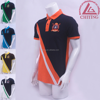 man shirt polo embroidery patch color 100%cotton