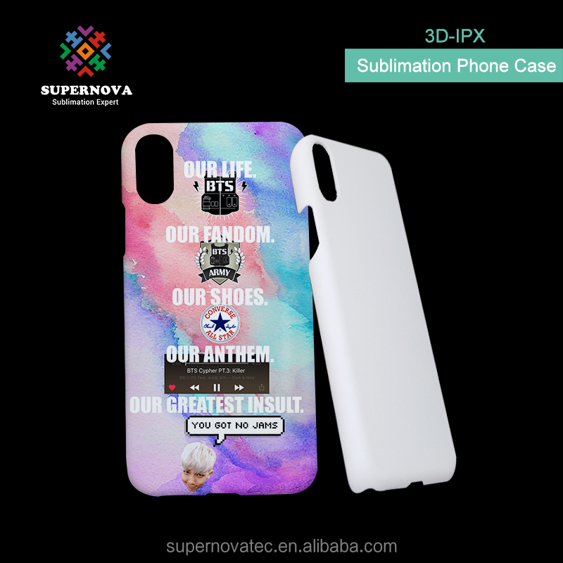 New Arrival 3D Sublimation Blank Phone Case, Blank Sublimation PC Cover, Sublimation Case for iPon X
