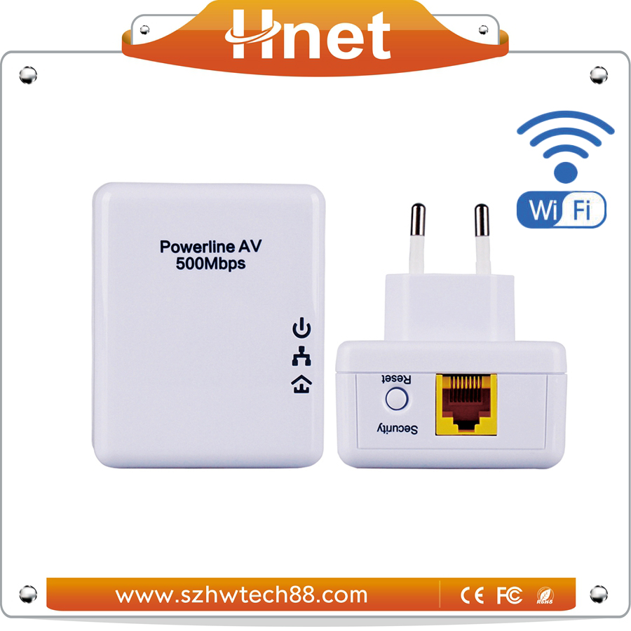 Fast Wireless ethernet over powerline/500M Telecommunication Adaptor Kit wired Internet Smart Home Wifi PLC