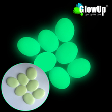 Yellow-green Man-made Oval Shape Glow In The Dark Cobblestone For Garden