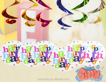 Happy Birthday Hanging Swirling Decoration Kids Party Decorations