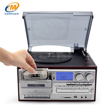 Modern Bluetooth Radio CD Cassette USB Recorder Vinyl Records Phonograph For Sale