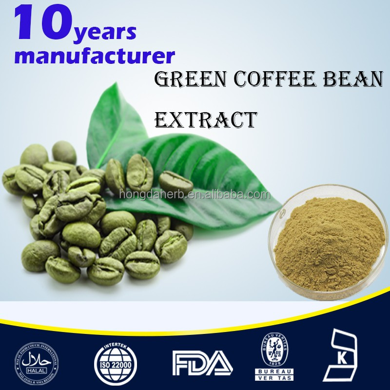 Pure Natural Green Coffee Bean Extract,50% chlorogenic acid green coffee bean extract