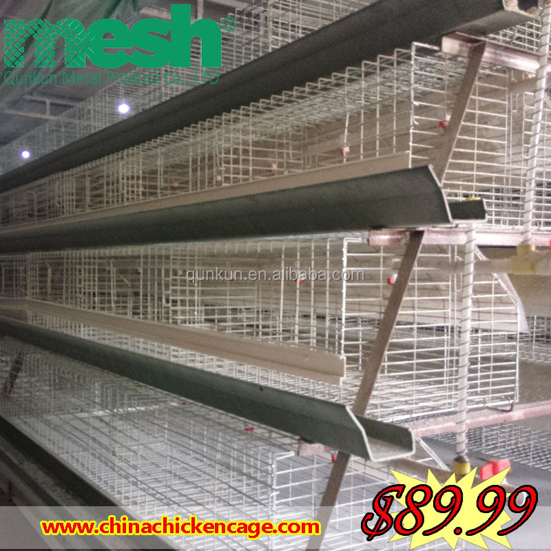 Alibaba China china (mainland) manufacture chicken layer house/ poultry chicken farm/battery chicken shed for sale from Anping