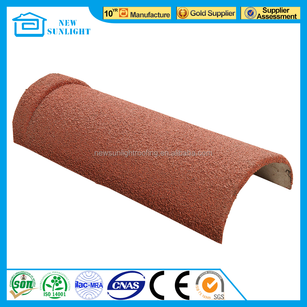 China stone coated roofing tiles ridges cap copper shingles in Nigeria factory