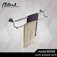 Factory Selling Brass Chrome Plated Brass Double Towel Bar