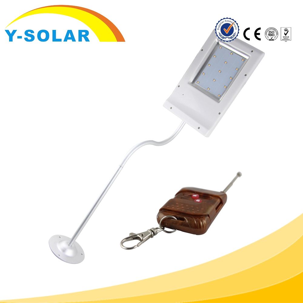 Y-SOLAR SL1-33-Control 3.5W 15 LED Wall Light with Remote Control for Yard with Solar Power Night Lamp