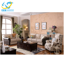 5 seater fabric sofa set designs with Copper nail
