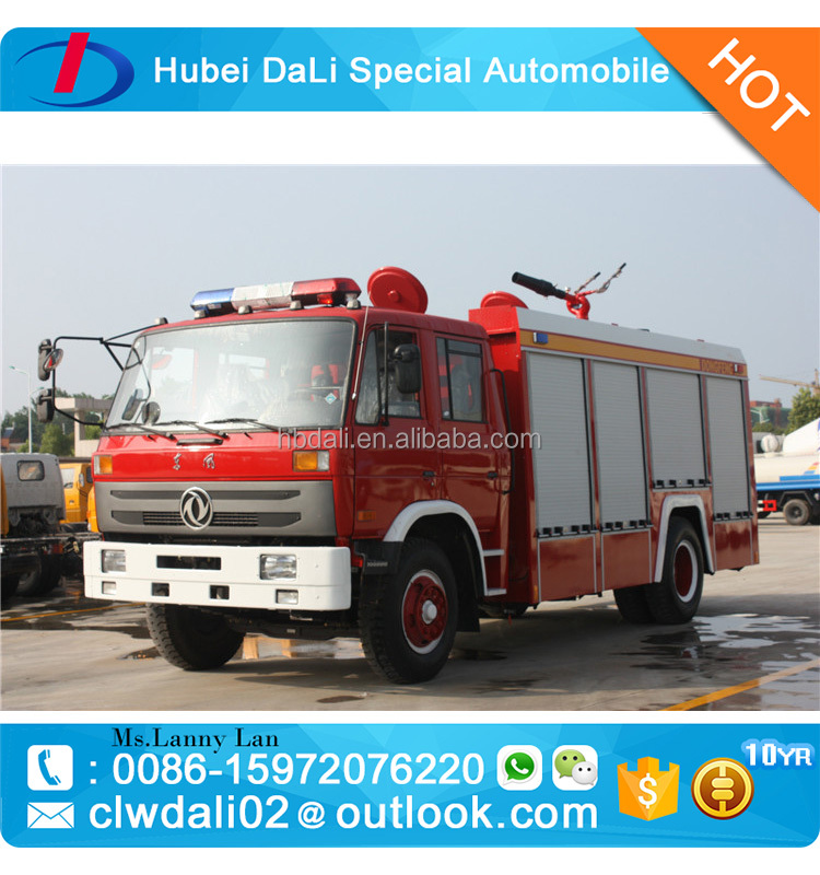 China Famous Brand Dongfeng 4*2 Euro 3 Water Foam Tank Fire Engine / Fire Truck