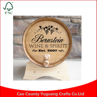 Custom Personalized Oak Drink Dispenser & Aging Kit, The Complete DIY Whiskey Barrel