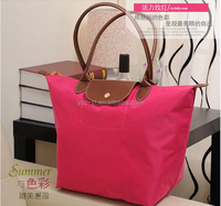 Wholesale Classic Foldable Women Nylon Tote Shopping Bag Rose