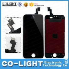 New Original black Front Housing LCD Display Touch Digitizer Screen Assembly for iphone 5S 5c 5