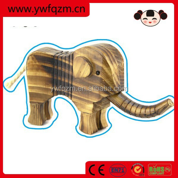 Mini animal wood carving elephant craft