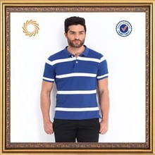 New design hot sell polo shirts with blue and white stripe