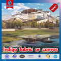 Indigo canvas for printing