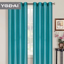 Faux Silk Plain Window Curtain In Stock