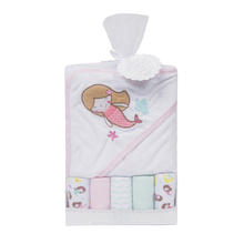 Customized mermaid printed comfortable bath wash cloth pattern hooded <strong>towel</strong>