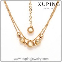 42062-Xuping Imitation Jewelry Gold Plated Long Chain Necklace