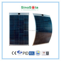 Flexible Poly Solar Panel 100W, Durable With PC Back Sheet